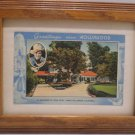Antique Postcard Residence of Gene Autry Greetings From Hollywood in Wood Frame