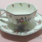 Royal Doulton Tea Cup and Saucer Leed Spray Pattern England