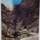 Real Photo Postcard The Silverton Narrow Gauge Train and Needle Mts