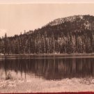 Antique Real Photo Postcard Summit Lake at Lossen Park Divided Unposted
