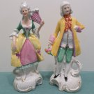 Vintage Figurines Porcelain Colonial man and woman made in Germany
