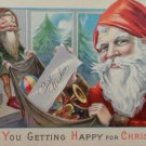 Christmas Postcard Santa Claus Unposted Divided