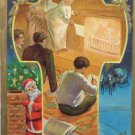 Antique Christmas Postcard Santa Claus Divided Unposted Embossed