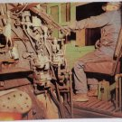 Real Photo Postcard Inside cab of Narrow Gauge Engine Train Unposted Divided