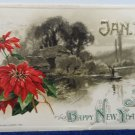 Antique 1912 New Year Postcard Country Scene by Winsch Germany Posted
