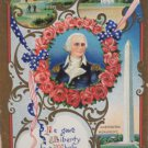 Antique Postcard President George Washington Germany Divided Embossed Posted
