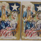 Two Antique Postcards President George Washington Posted Divided