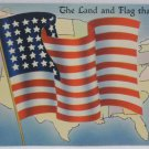 Antique Patriotic Postcard USA Flag Memorial Day Unposted Divided