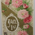 Antique 1910 New Year Postcard by John Winsch Germany Divided Unposted