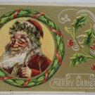 Antique Christmas Postcard Santa Claus Julius Bien Unposted Divided