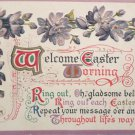 1910 Easter Postcard Floral Winsch Embossed Posted Divided