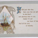 Antique Greetings Postcard Embossed Posted Divided
