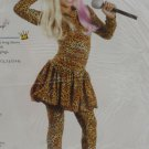 Halloween Costume Girls Leopard Rap Star Size Small 4-6 Party King