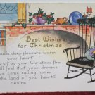 Antique Christmas Postcard Posted Divided