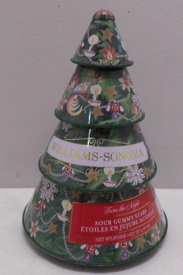 Collector Tin Green Christmas Tree by William Sonoma
