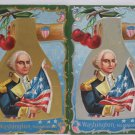 Antique George Washington Postcards Posted Divided Embossed