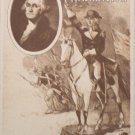 Antique Postcard President George Washington Divided Unposted
