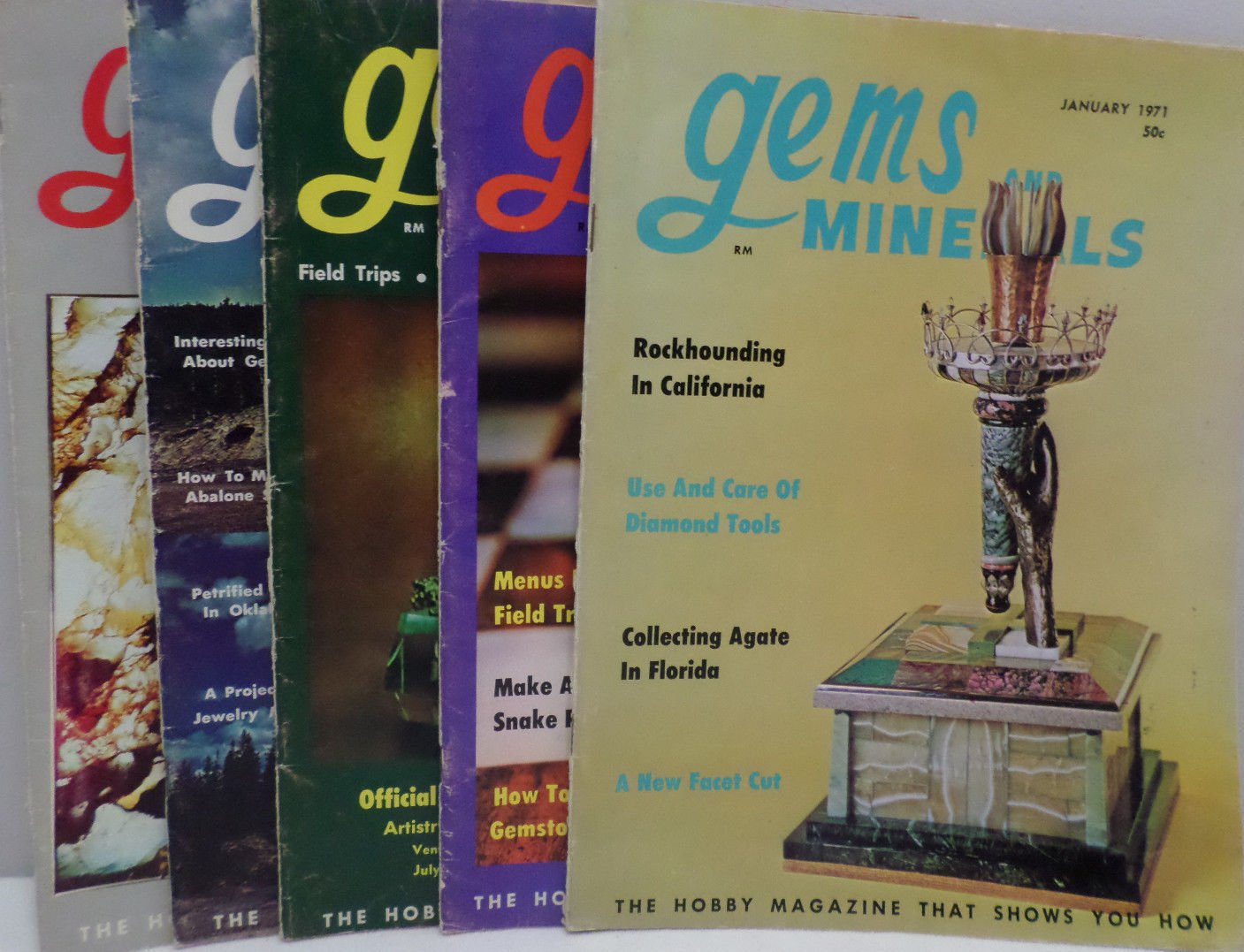 Gems and Minerals Magazine Jewelry Gems Minerals Jan Mar Jun Jul Aug 1971