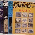 Jewelry Making Gems and Minerals Magazines January, February, May, July 1983