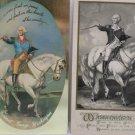 Four Antique Postcards President George Washington on a White Horse