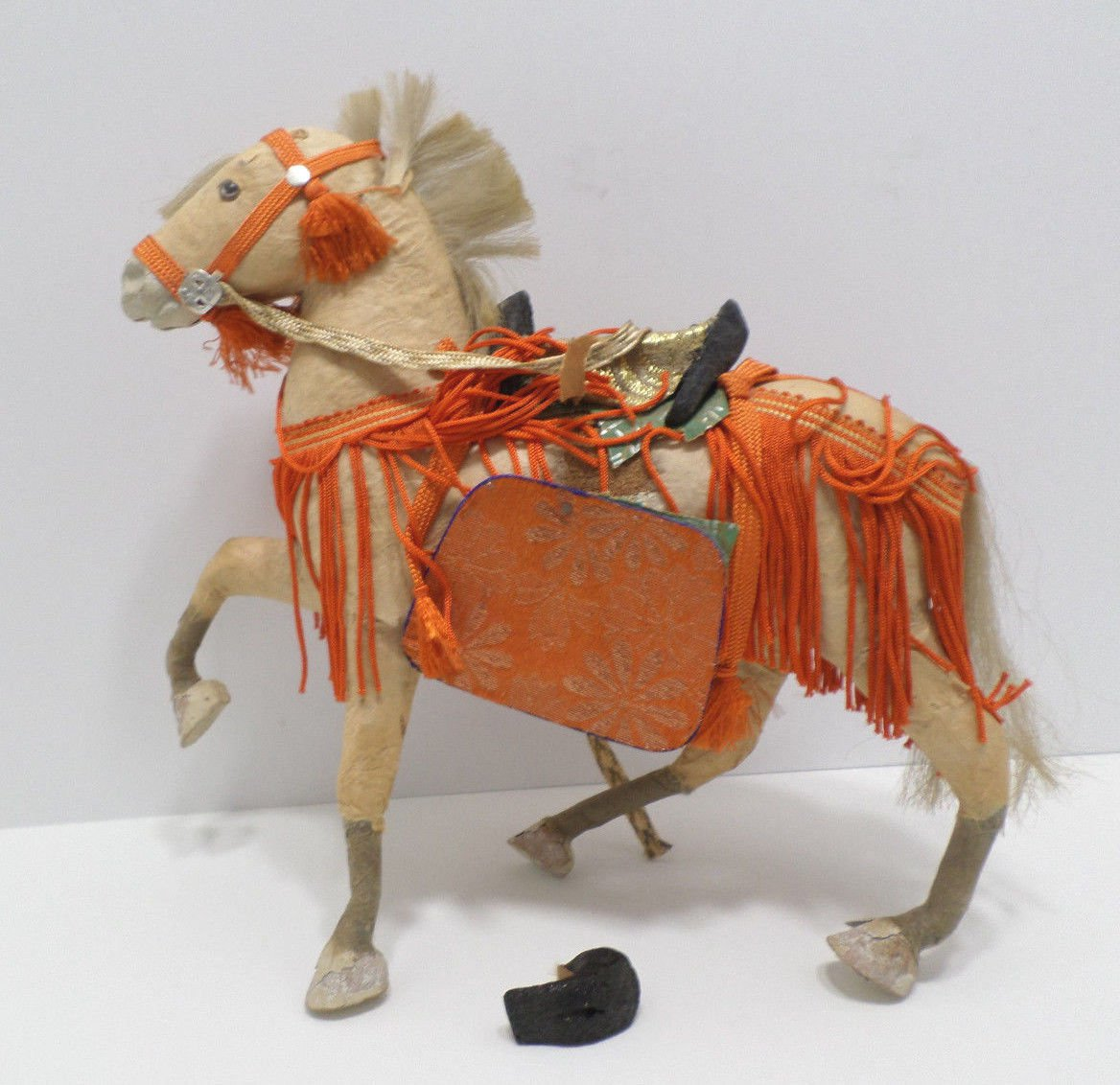 Antique Japanese Horse Figure Composition for a Boys Day Festival in Japan