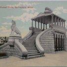 Antique Postcard Mousoleum Forest Park Springfield Mass.