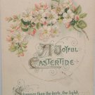 1912 Easter Postcard Pink White Floral Winsch Embossed Unposted Divided