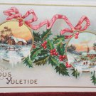Antique Christmas Postcard Embossed Unposted Divided made in the USA