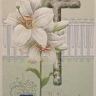 1911 Easter Postcard Cross Lilies Winsch Embossed Unposted Divided