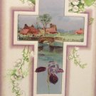1910 Easter Postcard Cross Scenic Winsch Embossed Posted Divided