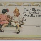 Antique Sunday School Postcard Unposted Divided