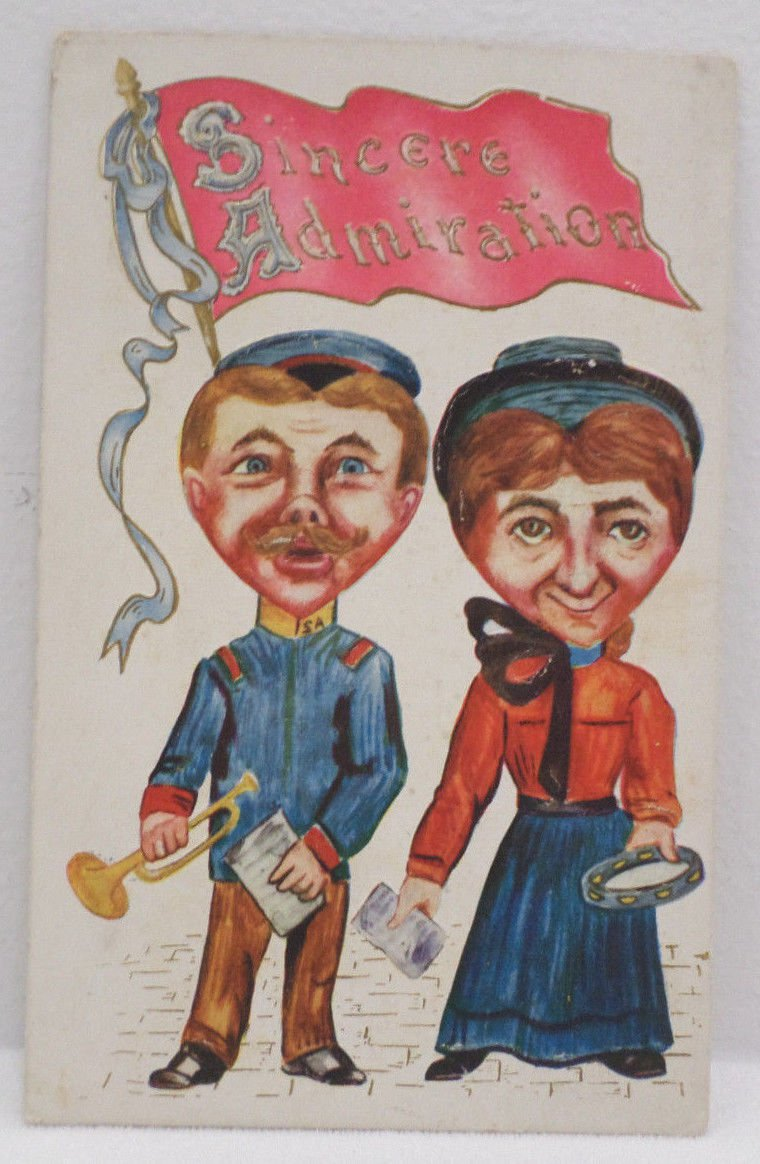 Antique Friendship Postcard Embossed Unposted Divided