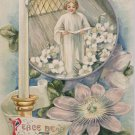 1910 Easter Postcard Christian Winsch Embossed Unposted Divided