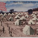 WWI Postcard Ready to Defend the Justice of All
