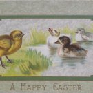 Antique Easter Postcard Baby Chicks Ducklings Embossed Divided Unposted