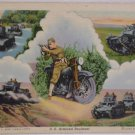 WWI Postcard U.S. Armored Regiment Photograph by US Army Signal Corps