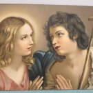 Antique Christmas Postcard Religious Jesus Christ Undivided Unposted Germany