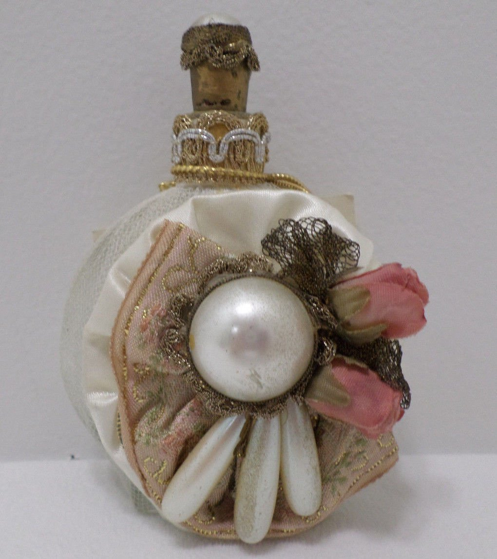 Perfume Bottle Sheila Davlin Collectibles Old World Fabrics and Trims