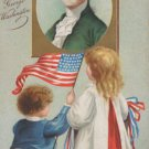 Antique Postcard President George Washington Divided Embossed Posted