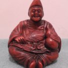 Chinese Man Statue Figurine Red Cinnabar Resin made in China