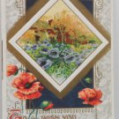 Antique 1910 New Year Postcard by John Winsch Germany Unposted Divided