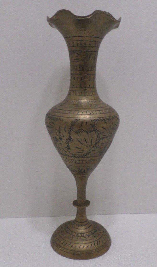 Vintage Solid Vase Solid Brass Urn Vase made in India