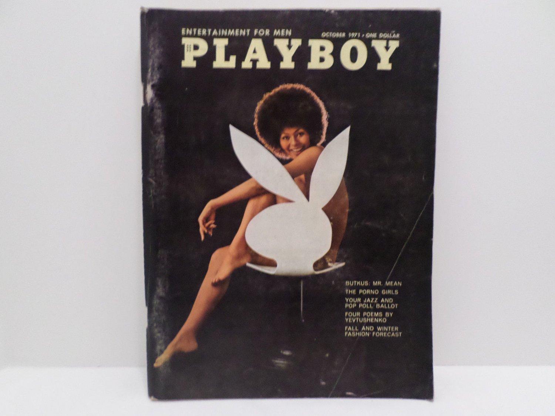 Playboy Magazine October 1971 Back Issue