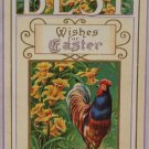 Antique Easter Postcard Rooster Embossed Unposted Divided