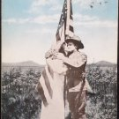 Antique Patriotic Postcard America I Love You Posted Divided