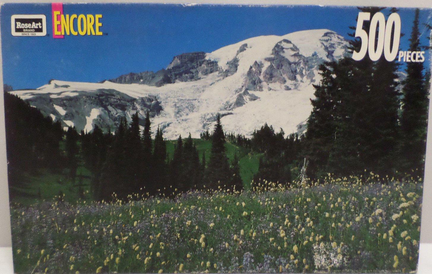 500 piece jig saw puzzle Rainier National Park by Rose Art 1993