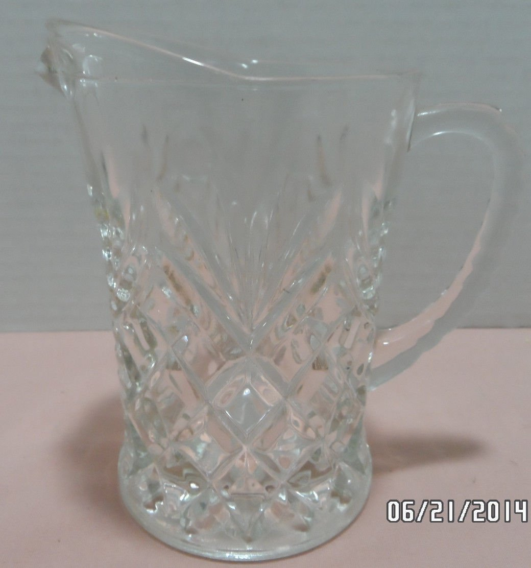 Pitcher Small Clear Crystal Pineapple Pattern  Anchor Hocking