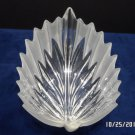 Crystal Bowl With Frosted Edges Leaf with Stem Shape