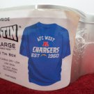 Football T-Shirt NFL West San Diego Chargers Size XL New in Collector Tin