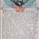Antique Postcard President Abraham Lincoln's Gettysburg Address unposted